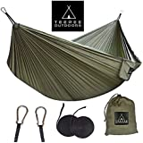 Hammock Extra Wide (Double 300x200 cm) Comfortable with Straps - Lightweight and Portable - for Camping Hiking Backpacking Travel Outdoor Indoor Beach Baby Kids Garden Yard - Teepee Outdoors