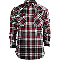 Rugged Elk Men's Midweight Flannel Shirt | Easy Open Snap Front