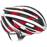 rh+(アールエイチプラス) ヘルメット ゼット・ワイ [ZY] マットホワイト/ブリッジマットレッドL/XL (58-62) 290g JCF公認 EHX6055 48