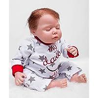 Curvedモヘアベビー人形Reborn 22インチ55 cm新生児シリコンSleeping赤ちゃんおもちゃ少年Lifelike人形キッズ誕生日クリスマスギフト