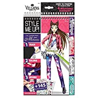 Style Me Up - ディズニー ヴィランズ 塗り絵ブック - ティーン ファッション 塗り絵ブック 女の子用 - キッズファッションクラフトセット - SMU-2112