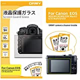 ORMY® Tempered Glass Camera Screen Guard for Canon EOS M50 / M100 / M6 / G9X MarkII / G7X MarkII / G5X [Ultra-Thin, High Definition, 9H Hardness]