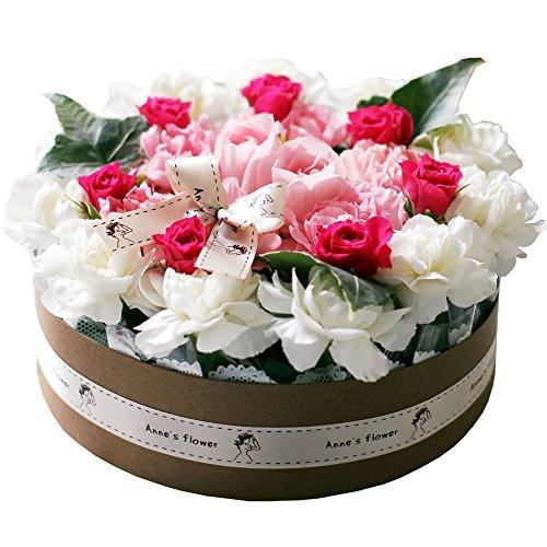おいしそうなお花のデコレーションケーキ!やさしいピンク♪スリム...