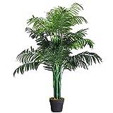 Costway 人工樹木 人工観葉植物 フェイクグリーン 高さ110cm 造花 造木 インテリア 観葉植物
