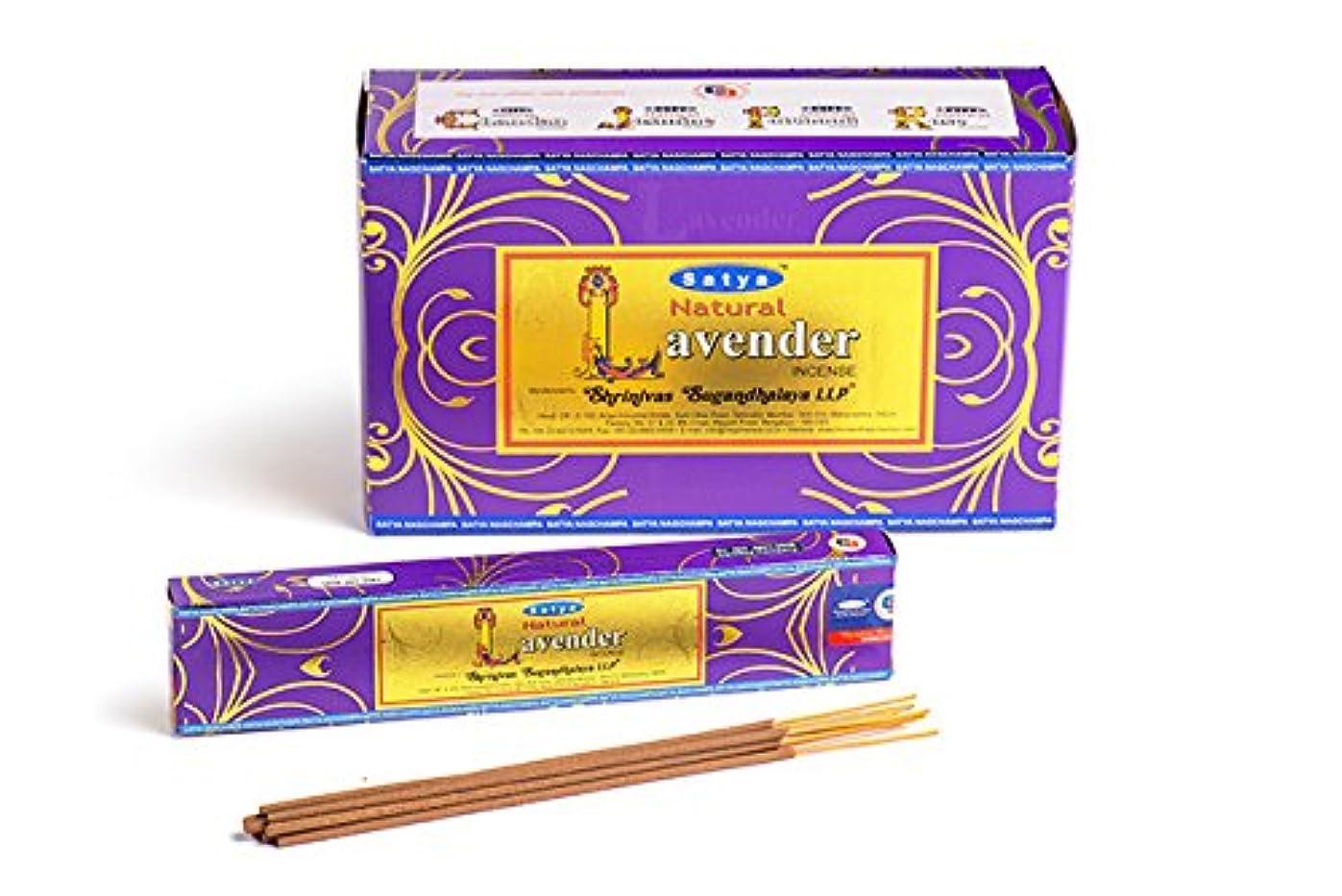 正義明確なトレードSatya. Shriniwas Sugandhalaya 天然ラベンダー線香 フルボックス 180GM