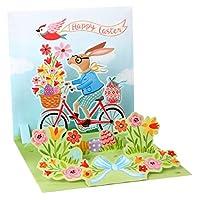 Up With Paper ポップアップトレジャーグリーティングカード - バニーバイクライド