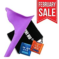 zhihu Travel Urinal For Women Spill Proof and Reusable Lightweight Portable Travel Urination Device Stand Up and Pee [並行輸入品]