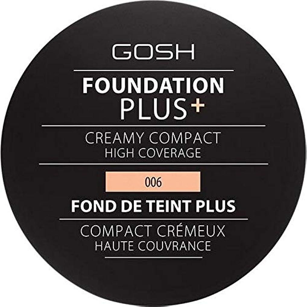 オート真夜中連結する[GOSH ] 基礎プラス+クリーミーコンパクト蜂蜜006 - Foundation Plus+ Creamy Compact Honey 006 [並行輸入品]