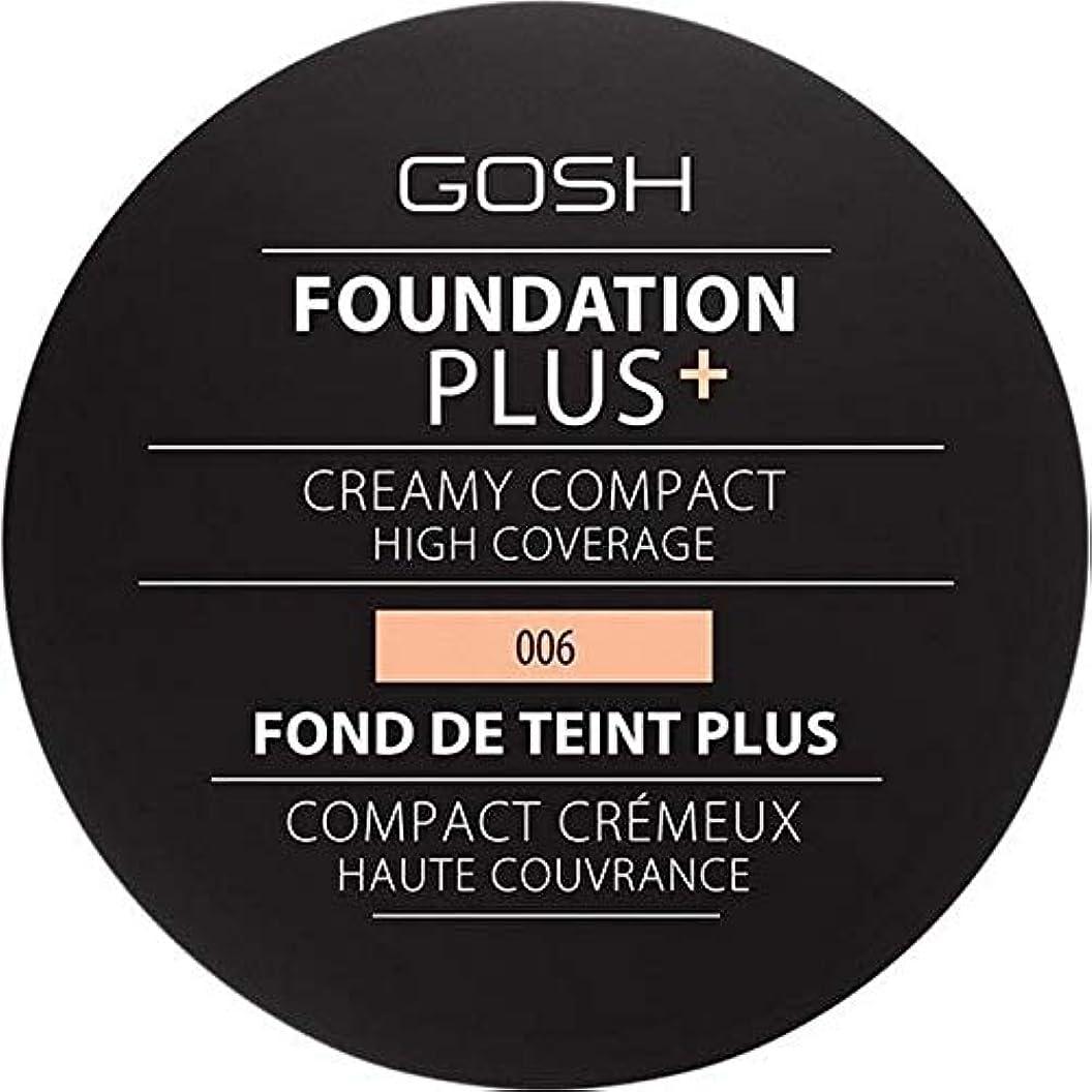 桁名前を作るエトナ山[GOSH ] 基礎プラス+クリーミーコンパクト蜂蜜006 - Foundation Plus+ Creamy Compact Honey 006 [並行輸入品]