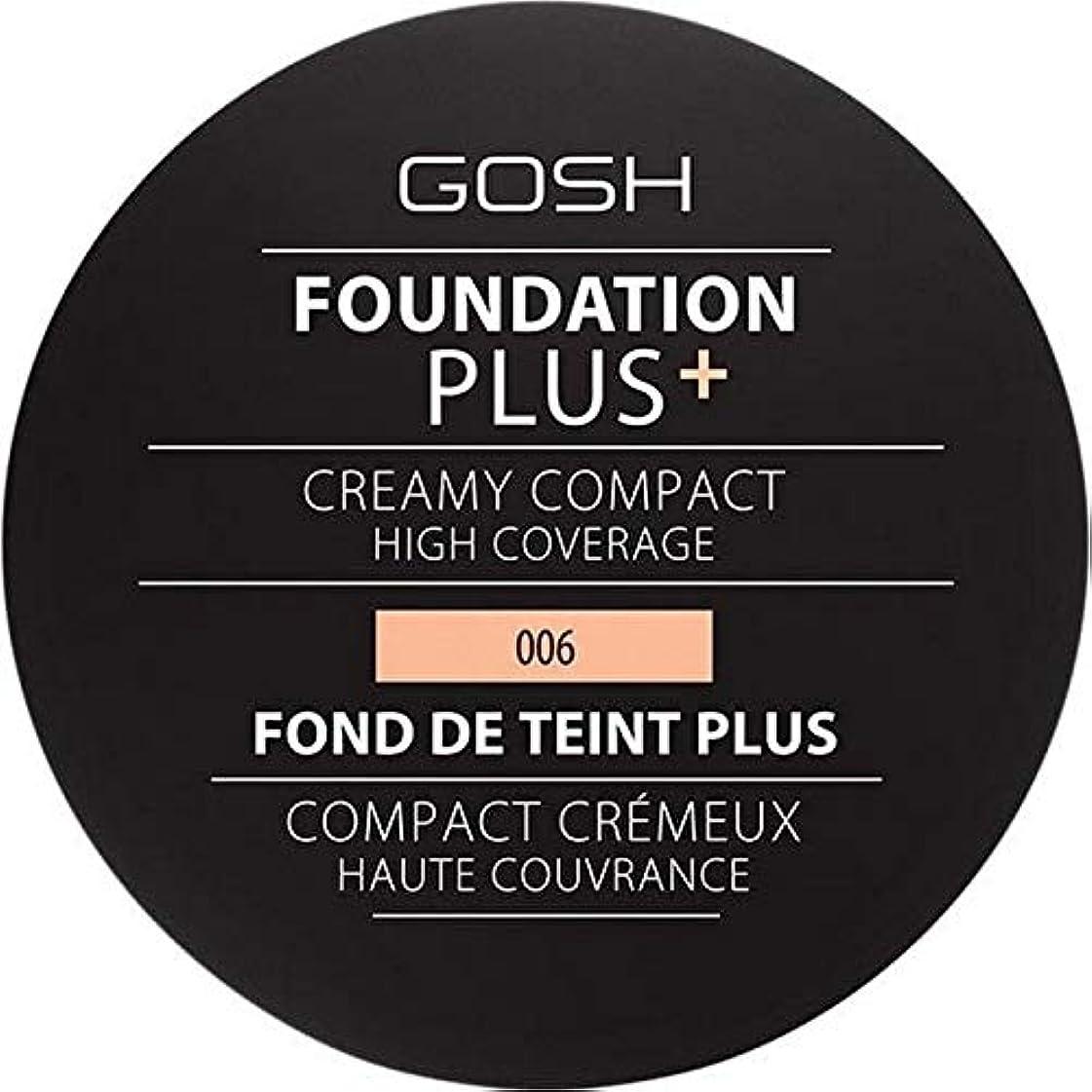 雷雨教師の日起きる[GOSH ] 基礎プラス+クリーミーコンパクト蜂蜜006 - Foundation Plus+ Creamy Compact Honey 006 [並行輸入品]