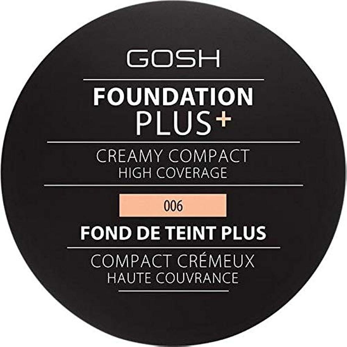 選挙小屋[GOSH ] 基礎プラス+クリーミーコンパクト蜂蜜006 - Foundation Plus+ Creamy Compact Honey 006 [並行輸入品]