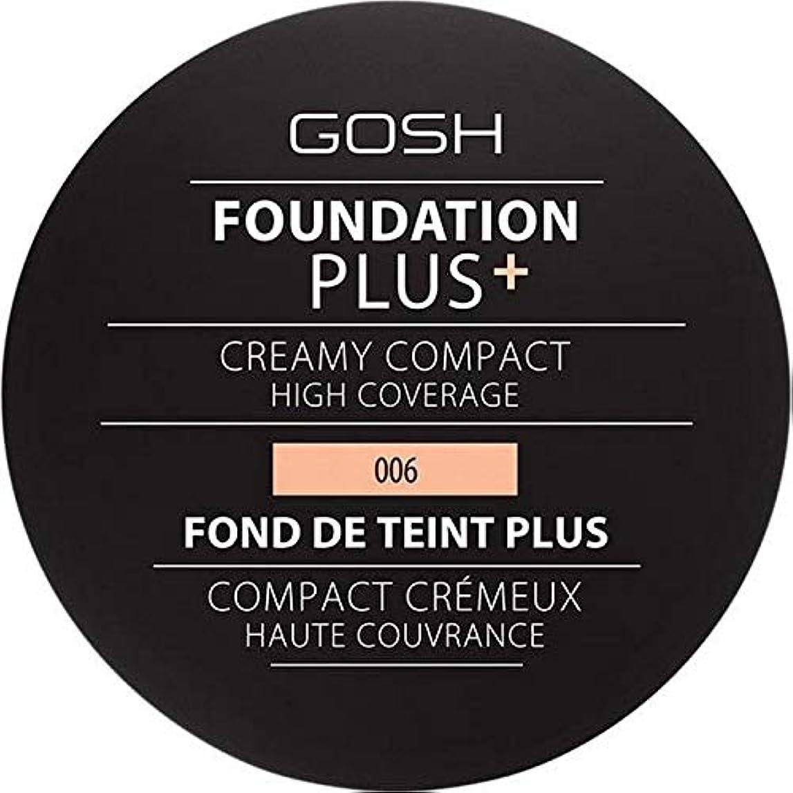 推進、動かすタイプ散歩[GOSH ] 基礎プラス+クリーミーコンパクト蜂蜜006 - Foundation Plus+ Creamy Compact Honey 006 [並行輸入品]