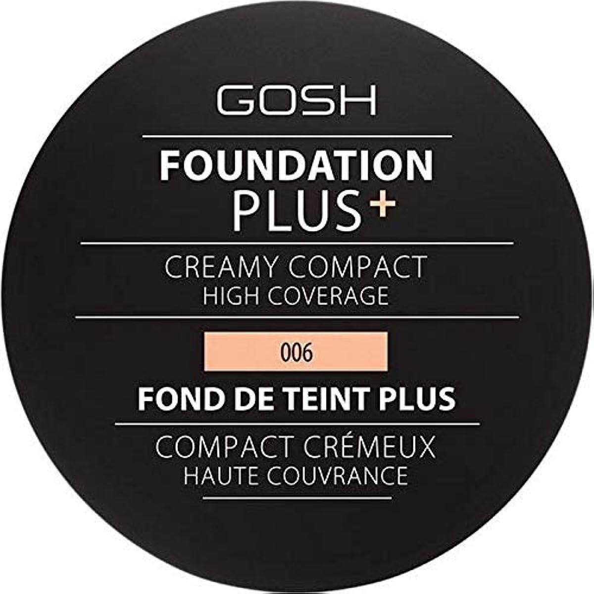 恥ずかしい時系列そうでなければ[GOSH ] 基礎プラス+クリーミーコンパクト蜂蜜006 - Foundation Plus+ Creamy Compact Honey 006 [並行輸入品]
