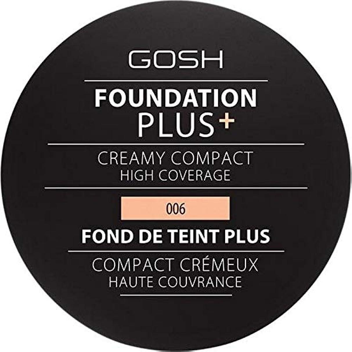 衝突キャンパス手紙を書く[GOSH ] 基礎プラス+クリーミーコンパクト蜂蜜006 - Foundation Plus+ Creamy Compact Honey 006 [並行輸入品]