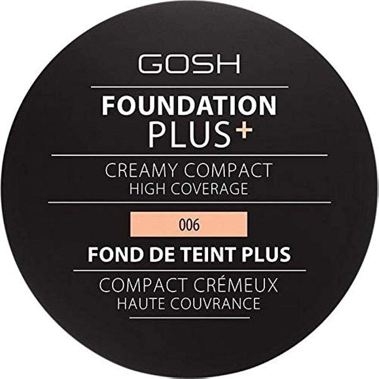 アシストブローホール期待する[GOSH ] 基礎プラス+クリーミーコンパクト蜂蜜006 - Foundation Plus+ Creamy Compact Honey 006 [並行輸入品]
