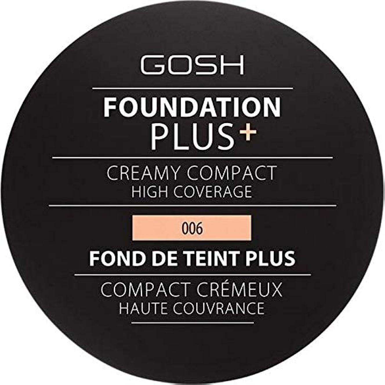 不快な朝ごはんコンテンツ[GOSH ] 基礎プラス+クリーミーコンパクト蜂蜜006 - Foundation Plus+ Creamy Compact Honey 006 [並行輸入品]