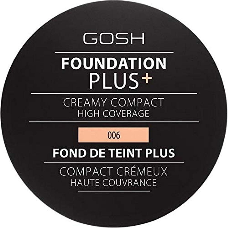 顕微鏡真実うぬぼれ[GOSH ] 基礎プラス+クリーミーコンパクト蜂蜜006 - Foundation Plus+ Creamy Compact Honey 006 [並行輸入品]