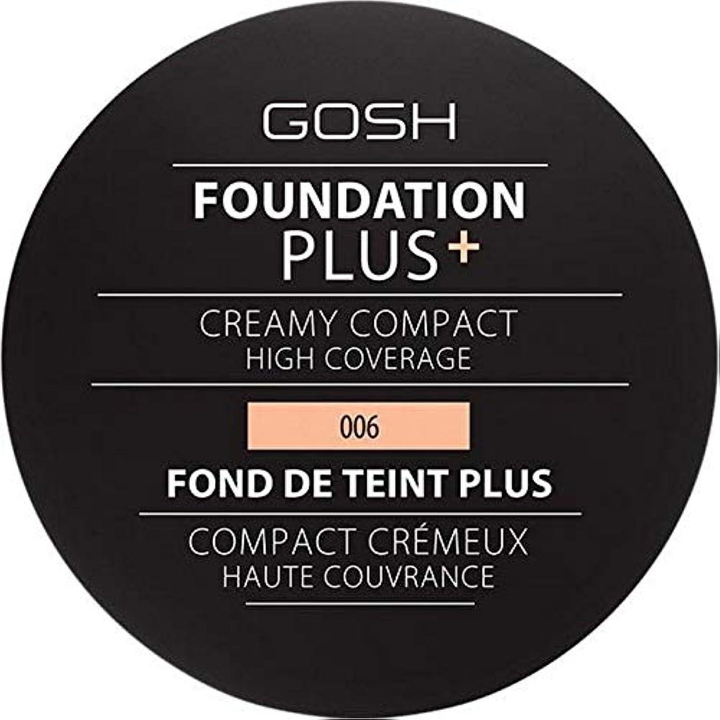 不十分はっきりと揮発性[GOSH ] 基礎プラス+クリーミーコンパクト蜂蜜006 - Foundation Plus+ Creamy Compact Honey 006 [並行輸入品]