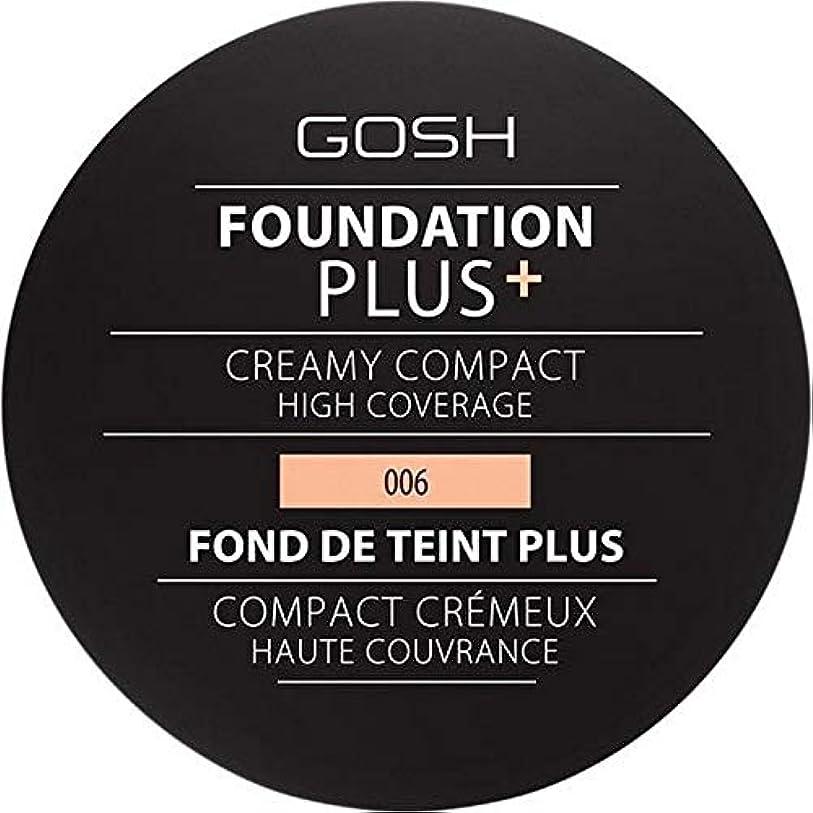 担保決定するくすぐったい[GOSH ] 基礎プラス+クリーミーコンパクト蜂蜜006 - Foundation Plus+ Creamy Compact Honey 006 [並行輸入品]