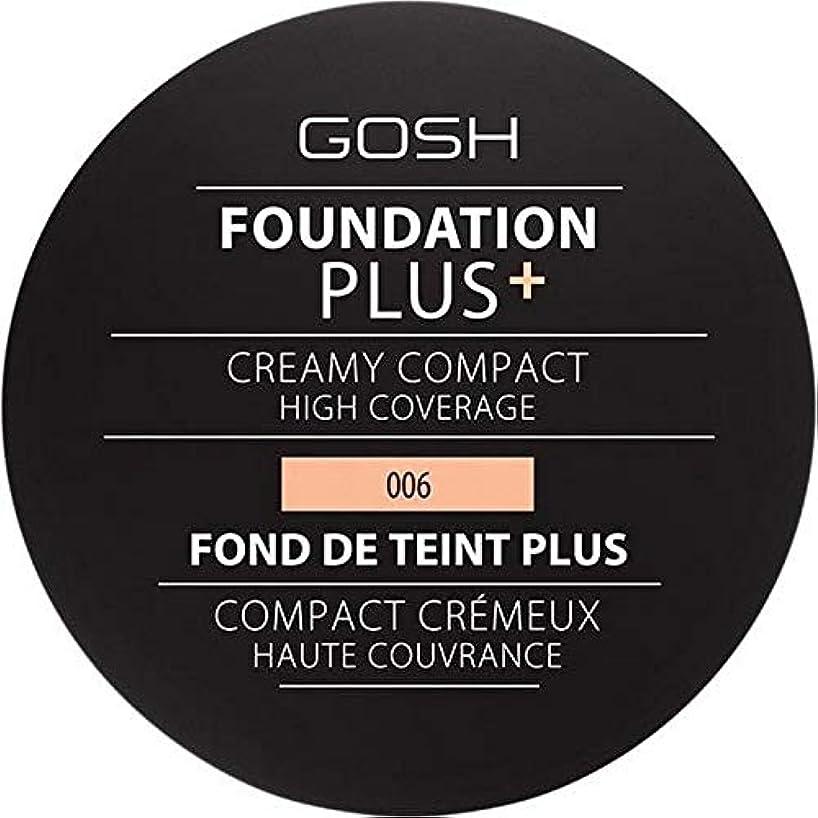 学ぶ未亡人予算[GOSH ] 基礎プラス+クリーミーコンパクト蜂蜜006 - Foundation Plus+ Creamy Compact Honey 006 [並行輸入品]