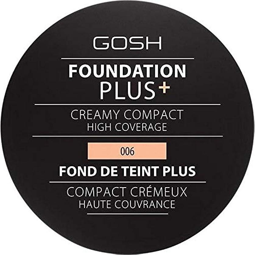 帝国主義放棄ポータル[GOSH ] 基礎プラス+クリーミーコンパクト蜂蜜006 - Foundation Plus+ Creamy Compact Honey 006 [並行輸入品]