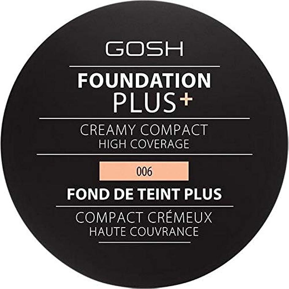 感謝祭動詞仮称[GOSH ] 基礎プラス+クリーミーコンパクト蜂蜜006 - Foundation Plus+ Creamy Compact Honey 006 [並行輸入品]