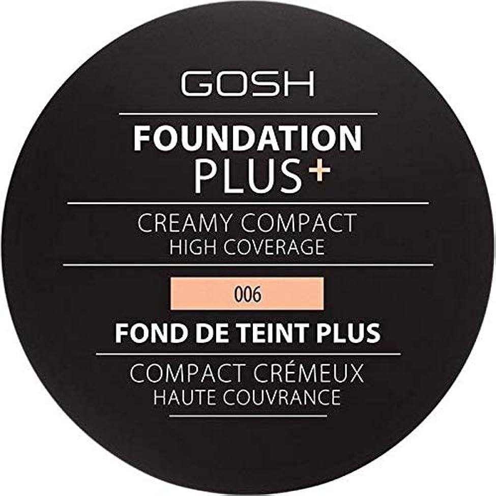 不毛申し立てられたチャート[GOSH ] 基礎プラス+クリーミーコンパクト蜂蜜006 - Foundation Plus+ Creamy Compact Honey 006 [並行輸入品]