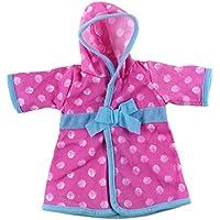 SONONIA 18インチアメリカガールドール人形用 寝間着 夜ドレス 人形 パジャマ 服 2色 - ピンク