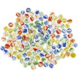 IPOTCH 1 Pack Glass Marbles Bulk (14mm), Marble Run Accessory, Kids DIY Craft Toy, Party Favors, Fish Tank Decoration,About 526g
