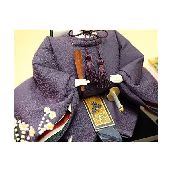 雛人形 ケース入り親王飾り 春日雛 加賀蒔絵バ...の紹介画像5
