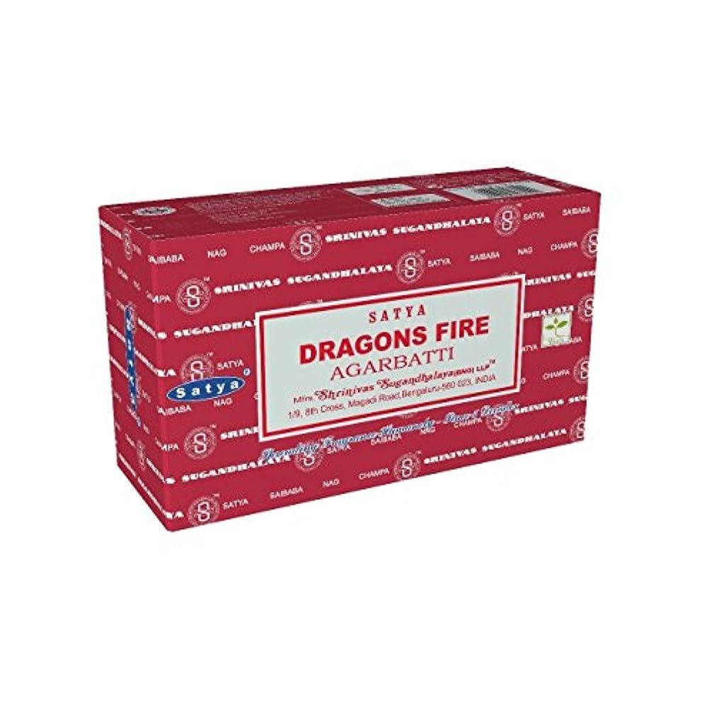 沈黙稼ぐSatyaバンガロール(BNG) Dragon 's Fire Incense Sticks 12ボックスX合計15 g180グラム