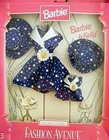 barbie-バービー&ケリーMatchinスタイルファッションAvenueブルーデイジードレスasst. 1811
