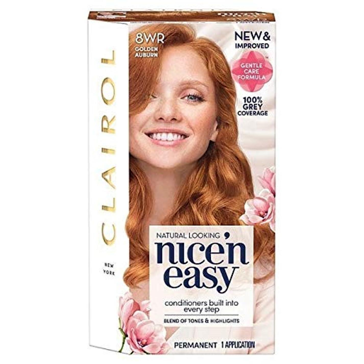 歴史息苦しい出版[Nice'n Easy] Nice'N簡単8Wr黄金赤褐色 - Nice'n Easy 8Wr Golden Auburn [並行輸入品]