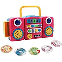 Kids Interactive Music CD Mini Disc Player With Light Up Speakers - Pink [並行輸入品]