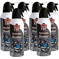 6pk Dust Off Compressed Air Computer TV Gas Cans Duster 10oz Laptop Keyboard CPU by Falcon