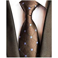 Men's Big Boys Gingham Check Ties Pattern Novelty Business Formal Neckties 3.15""