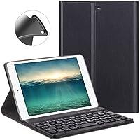 iPad mini キーボード ケース GOOJODOQ iPad mini/mini2/mini3 専用 bluetooth レザー 超薄 滑り止め スタンド機能 分離式キーボード 全面保護カバー(ブラック)