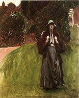 手書き-キャンバスの油絵 - 美術大学の先生直筆 - Portrait of Miss Clementina Austruther John Singer Sargent 絵画 洋画 複製画 ウォールアートデコレーション -サイズ08