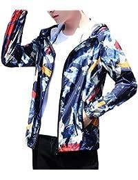 maweisong メンズカジュアルパーカーのフード付きのジャケット