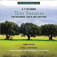 ゲオルク・フィリップ・テレマン:リコーダーとヴァイオリン、通奏低音のためのトリオ・ソナタ集(Trio Sonatas for Recorder, Violin & Continuo)