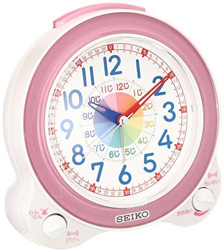 セイコー クロック 目覚まし時計 知育 アナログ ピンク KR887P SEIKO