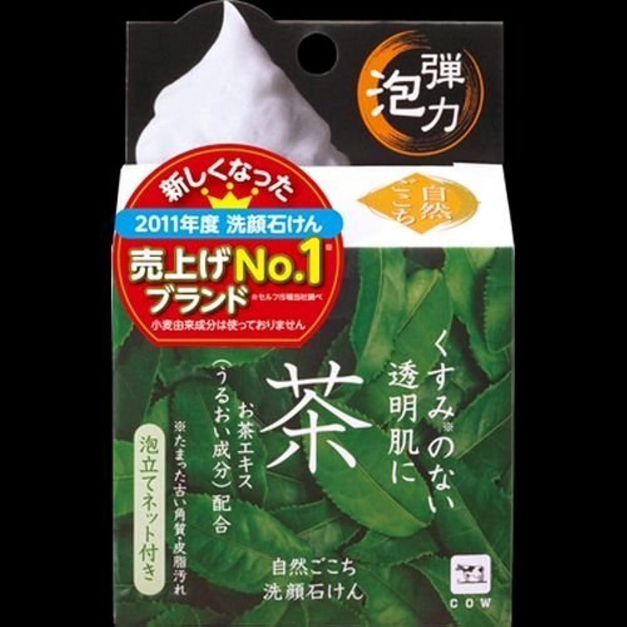 【まとめ買い】自然ごこち 茶 洗顔石けん 80g ×2セット