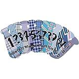 Homyl ベビー ネクタイ ステッカー 1-12月間 写真 小道具 衣装飾り 可愛い 12枚/セット