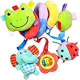 FITYLE Baby Kids Pram Stroller Bed Around Spiral Hanging Activity Soft Plush Toys - Frog