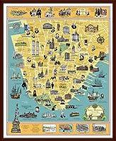 ポスター トニー ミリオネア A History of Lower Manhattan 額装品 ウッドベーシックフレーム(ブラウン)