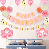 誕生日 飾り付け 風船 Birthday バルーン パーティー 飾り 40点セット 両面テープ エアーポンプ付き