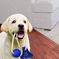 犬おもちゃ 噛むおもちゃ 吸盤式 ボール 弾性 レーニング 歯磨き インタラクティブ 耐久性 無毒 ストレス解消 運動不足 ペットおもちゃ 小/中/大型犬に適用 (レッド)