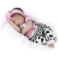 PENSON & CO.22インチ Rebornベビードールガール 新生児 ソフトシリコン ビニール ハンドメイド 本物そっくりの眠っている赤ちゃんの人形