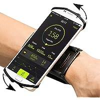 XZA 腕バンド 180°回転式 ランニングアームバンド 携帯ホルダー マジックテープ式スポーツ スマホアームバンド 耐衝撃性 防汗 軽量 iPhone 7/7 Plus、Samsung 、Androidなど多機種に適用 (スマホ 4~5.5インチに対応) 生涯保証付き