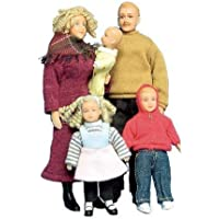 Dollhouse Miniature The Donnellys - 5-Pc. Doll Family Set by
